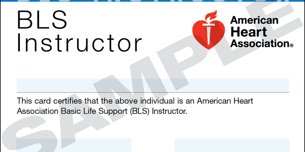 Basic Life Support & CFR Community Instructor Course
